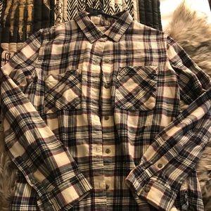 Vans obsession flannel shirt- creme